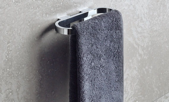 Selection Accessories - Towel Ring with Grey Towel