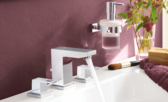 GROHE Faucet with Red Background