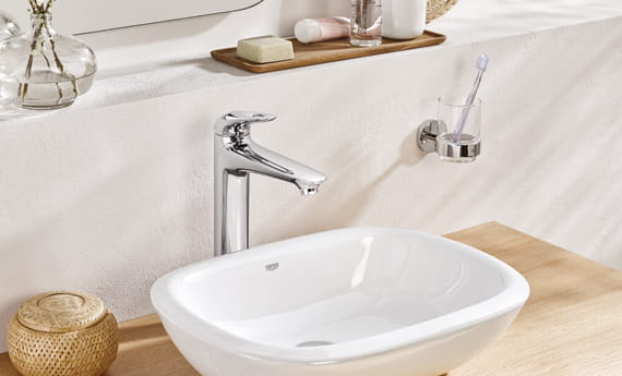GROHE Europlus Chrome Faucet with White Sink