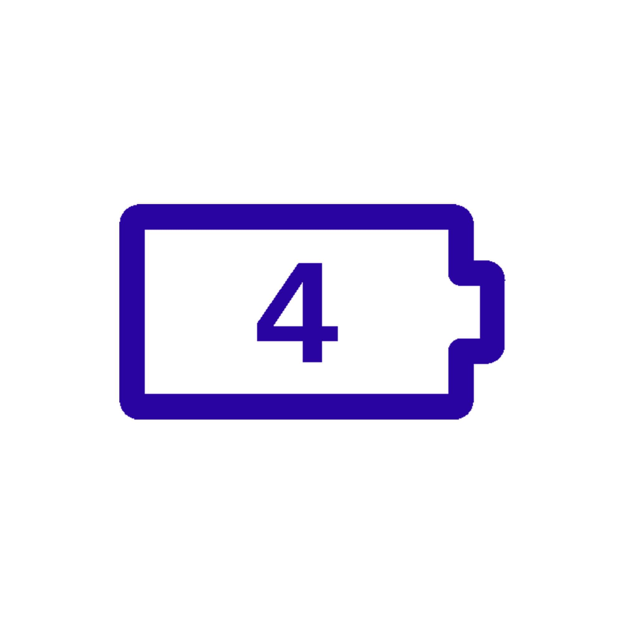 icône de longue durée de vie de la batterie