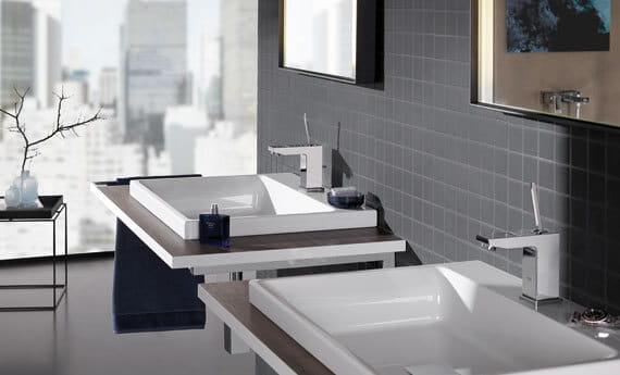 Robinet Eurocube avec salle de bains double lavabo