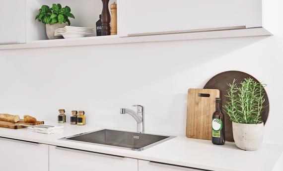 GROHE Eurosmart Kitchen Faucet Beauty shot white room