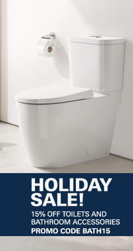 Holiday Sale - 15% Off Toilets and Accessories with Promo Code BATH15